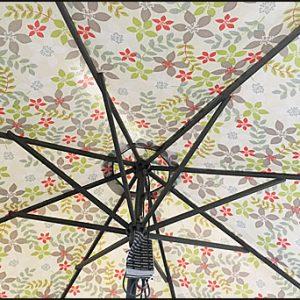Parasoll MILAN 2,7m grå/blom